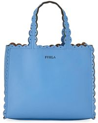 Furla - Merletto Small Leather Tote Bag - Lyst