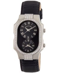 Philip Stein - Small Signature Double Diamond Watch Black - Lyst