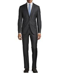 Neiman Marcus | Slim-fit Solid Serge Two-piece Suit | Lyst