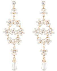 Kenneth Jay Lane - Pearly Crystal Drop Earrings - Lyst