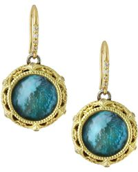 Armenta - Old World Triplet Drop Earrings W/ Diamond Crivelli - Lyst