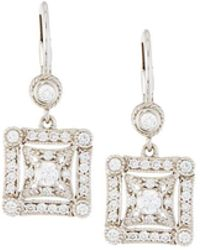 Penny Preville - 18k Square Diamond Drop Earrings - Lyst