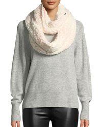 Karl Lagerfeld - Ombre Tweed-stitch Knit Infinity Scarf - Lyst