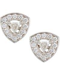 Penny Preville - 18k Trillion-cut Diamond Stud Earrings - Lyst