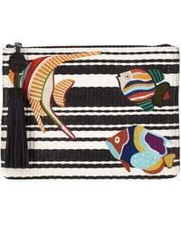 Sam Edelman - Synthia Straw Pvc Fish Clutch Bag - Lyst