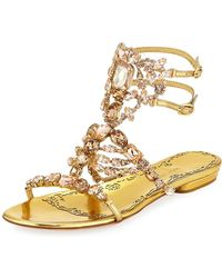 Marchesa - Emily Leather Sandals - Lyst