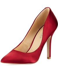 Charles David - Maxx Satin Pointy-toe Pump - Lyst