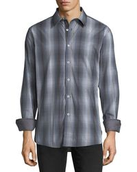 English Laundry - Tie-dye Check Sport Shirt - Lyst