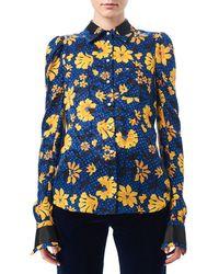 Altuzarra - Marlowe Floral Dot Satin-trim Shirt - Lyst