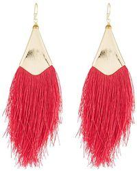 Nakamol - Fringe Drop Earrings Red - Lyst