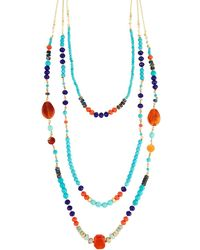 Nakamol - Multicolor Bead Layered Necklace - Lyst