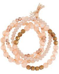 Lydell NYC - Bead & Tassel Stretch Bracelets Set Of 4 - Lyst