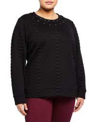 MICHAEL Michael Kors - Croc-embossed Lacing Sweatshirt Plus Size - Lyst
