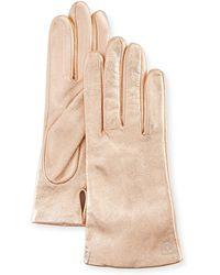 Neiman Marcus - Metallic Leather Tech Glove - Lyst