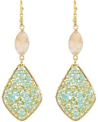 Nakamol - Amazonite & Druzy Dangle Earrings - Lyst