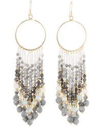Lydell NYC - Chandelier Beaded Tassel Earrings - Lyst