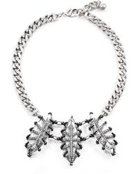 Lulu Frost Clara Crystal Navette Statement Necklace - Metallic