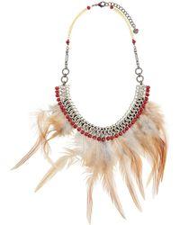 Nakamol - Feather Bib Statement Necklace - Lyst