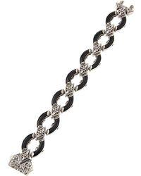 Konstantino - Ismene Matte Black Agate Link Bracelet - Lyst