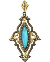 Armenta - Old World Turquoise Enhancer W/ Diamonds & Sapphires - Lyst