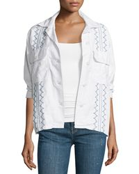 The Great - The Embroidered Army Shirt Jacket - Lyst