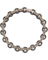 Roberto Coin - Pois Moi 18k White Gold & Titanium O-ring Bracelet - Lyst