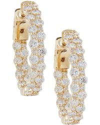 Neiman Marcus - Shared-prong Diamond Earrings In 14k Yellow Gold - Lyst