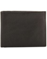 Neiman Marcus - Rfid Pebbled Leather Bi-fold Wallet - Lyst