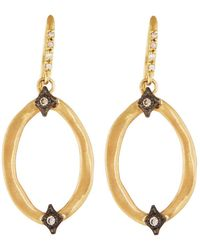 Armenta - Old World 18k Diamond Hoop Drop Earrings - Lyst