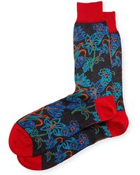 Bugatchi - Men's Cotton-blend Floral- Pattern Socks - Lyst