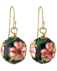 A.V. Max - Cloisonne Bead Earrings Black - Lyst