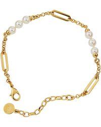 Majorica - Modern Metal Pearly Chain Bracelet - Lyst