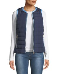 Sail To Sable - Short Quilted Puffer Vest - Lyst