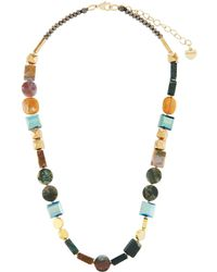 Nakamol - Square & Circular Stone Mix Necklace - Lyst