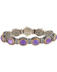 Konstantino Erato Labrardorite Doublet Filigreed Cuff Bracelet h7rlyyN
