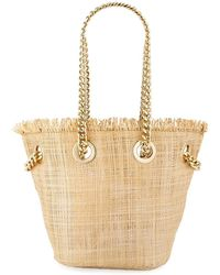 Neiman Marcus - Chain Strap Mini Straw Bag - Lyst