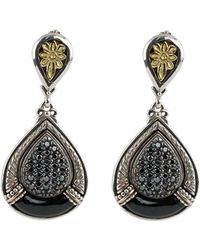 Konstantino | Asteri Pave Black Diamond & Onyx Double-drop Earrings | Lyst