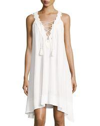 Cirana - Laced-up V-neck Dress - Lyst