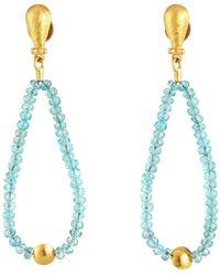 Gurhan - 24k Apatite Dangle Earrings - Lyst