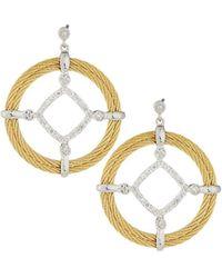 Alor - Classique Pave Diamond Circle Drop Earrings - Lyst