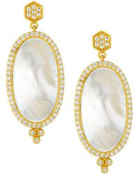 Freida Rothman - Framed Mother-of-pearl Slice Earrings - Lyst