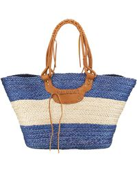 San Diego Hat Company | Paperbraid Wide Striped Tote Bag | Lyst