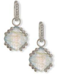 Jude Frances - Labradorite & Blue Topaz Earring Charms With Diamonds - Lyst