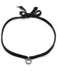 DANNIJO - Vix Velvet Choker Necklace - Lyst