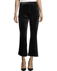 Goldie London - Velvet Bell-bottom Pants - Lyst