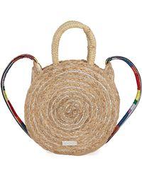 Sam Edelman - Emilia Metallic Jute Round Shoulder Bag - Lyst