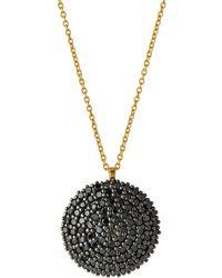 Gurhan - 18k Two-tone Pave Black Diamond Lentil Pendant Necklace - Lyst