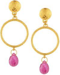 Gurhan - Captiva Open Ruby Drop Earrings - Lyst