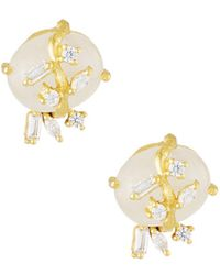 Indulgems - Mixed Cubic Zirconia Stud Earrings - Lyst