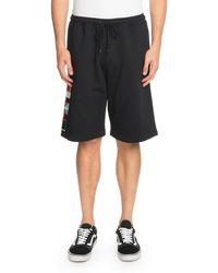 Marcelo Burlon - Flags-appliqé Cotton Shorts - Lyst